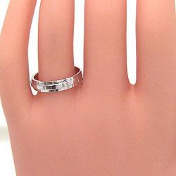 結婚指輪バンドデザインマリッジリングホワイトゴールドK18ペアリングK18WG指輪ベルトアクセサリージュエリーショップ刻印文字入れ可能人気安い2本セットブライダルアクセサリーギフト