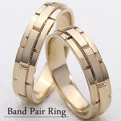 イエローゴールドK18マリッジリング/ペアリング/結婚指輪/K18YG/指輪/ベルトデザイン/アクセサリー/ジュエリーショップ