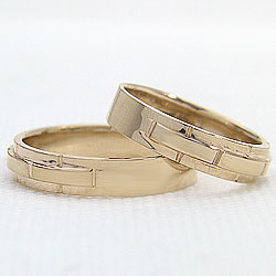 結婚指輪 ゴールド バンドデザイン ペアリング マリッジリング イエローゴールドK18 ベルト 18金 2本セット ペア 文字入れ 刻印 可能 婚約 結婚式 ブライダル ウエディング ギフト