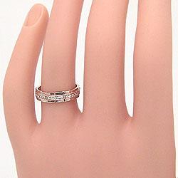 結婚指輪ゴールドペアマリッジリングバンドデザインピンクゴールドK18ホワイトゴールドK18バンドデザインペアリング18金2本セット