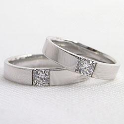 Pt900一粒ダイヤモンドマリッジリング/プラチナ900/結婚指輪0.2ct/ブライダル/アクセサリーショップ/人気ペアリング/marriagering