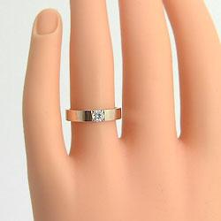 マリッジリング一粒ダイヤモンドペアリングK10PG天然ダイヤモンド0.2ct結婚指輪ジュエリーショップピンクゴールドK10人気ジュエリー記念日ブライダルリング結婚式ギフト