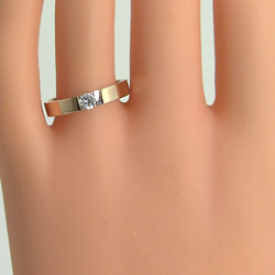 ペアリング ゴールド 一粒ダイヤモンド 0.2ct 結婚指輪 イエローゴールドK10 マリッジリング 10金 2本セット ペア 文字入れ 刻印 可能 婚約 結婚式 ブライダル ウエディング ギフト