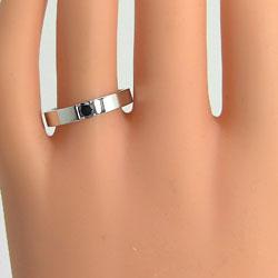 一粒ダイヤモンドマリッジリングブラックダイヤモンドイエローゴールドK10ホワイトゴールドK10結婚指輪ブライダルジュエリーー激安人気アイテムペアリングギフト