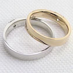 一粒ダイヤモンドマリッジリング/ブラックダイヤモンド/イエローゴールドK10/ホワイトゴールドK10/結婚指輪/ブライダル/ジュエリーー/激安/人気アイテム/ペアリング