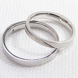 一粒ダイヤモンドマリッジリング/K10WG/ホワイトゴールドK10/ペアアクセサリー/激安/記念日/誕生日/ジュエリーアイ/ブライダルリング/指輪