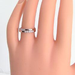 マリッジリングクロスダイヤモンドペアリングK18PGピンクゴールドK18結婚指輪人気アクセサリープロポーズ結婚記念日ギフト