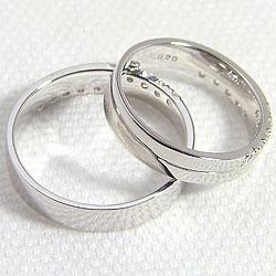結婚指輪 ゴールド クロス ダイヤモンド ブラックダイヤモンド 0.2ct ペアリング ホワイトゴールドK10 マリッジリング 10金 2本セット ペア 文字入れ 刻印 可能 婚約 結婚式 ブライダル ウエディング ギフト