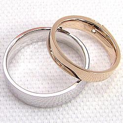 マリッジリング一粒ダイヤモンドピンクゴールドK10ホワイトゴールドK10マリッジリング結婚指輪誕生日記念日ジュエリーショップ指輪2本セットギフト