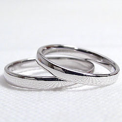 結婚指輪ゴールド平甲丸ペアリングホワイトゴールドK18マリッジリング18金2本セットペア文字入れ刻印可能婚約結婚式ブライダルウエディングギフト