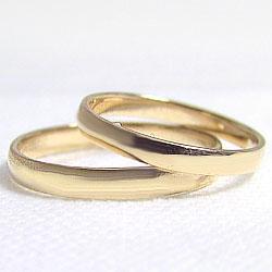 平甲丸マリッジリング指輪イエローゴールドK10K10YG結婚指輪ペアリング婚約結婚式誕生日記念日ギフト【_包装】【_名入れ】