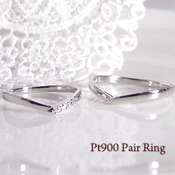 結婚指輪 プラチナ Vライン ダイヤモンド オリジナル マリッジリング Pt900 ペアリング 文字入れ 刻印 可能 2本セット 文字入れ 刻印 可能 婚約 結婚式 ブライダル ウエディング ギフト