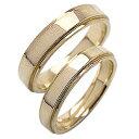 結婚指輪 ペアリング イエローゴールドK18 シンプル マリッジリング 18金 2本セット 文字入れ 刻印 可能 婚約 結婚式 ブライダル ウエディング おすすめ プレゼント