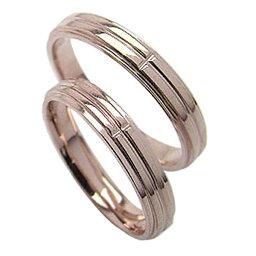 クロス ペアリング 結婚指輪 ピンクゴールドK10 K10PG マリッジリング 10金 2本セット 文字入れ 刻印 可能 婚約 結婚式 ブライダル ウエディング おすすめ プレゼント