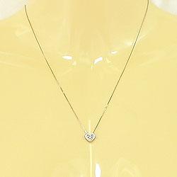 ハートネックレスダイヤモンドペンダントネックレスホワイトゴールドK10ハートペンダント10金記念日贈り物プレゼントにジュエリーアイギフト