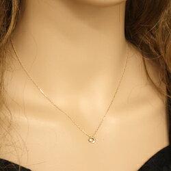 一粒ダイヤモンドネックレスペンダントムーン月アイテムK10WGK10PGK10YGmoonnecklace10金ゴールド通販ショップギフト