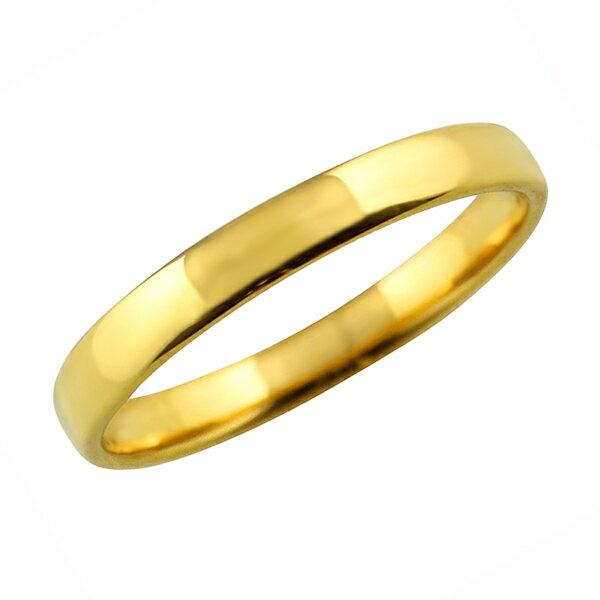 甲丸リング 3mm幅 10金 指輪 メンズ K10 ゴールド シンプル 甲丸 リング 結婚指輪 マリッジリング ブライダル 結婚式 文字入れ 刻印 可能 日本製 ホワイトデー プレゼント