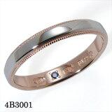 結婚指輪 マリッジリング Pt900(プラチナ900)/K18PG(ピンクゴールド) サファイア リング 【#3?#22】 Romantic Blue (ロマンティックブルー) 【
