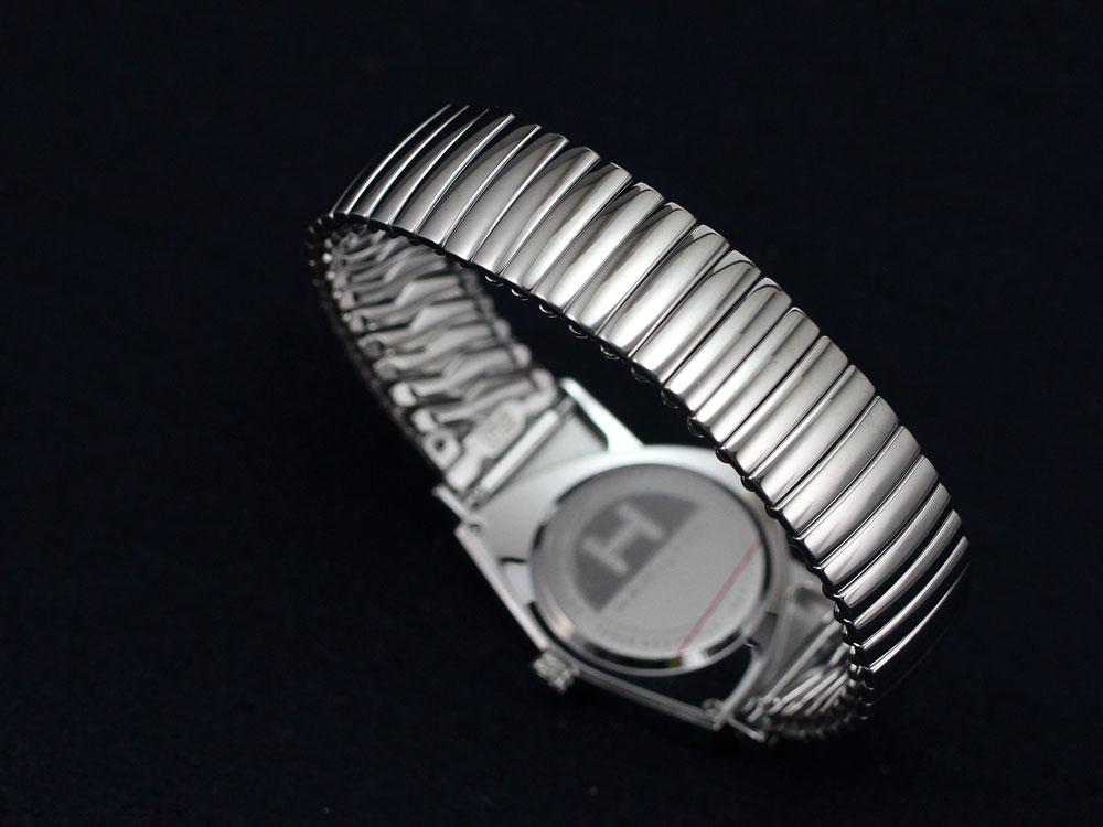 ハミルトンは安心の正規販売店で HAMILTON ベンチュラ クォーツ フレックスブレス シルバー 日本正規品 H24411232