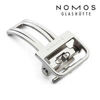 ノモスNOMOS純正Dバックル16mm/18mmステンレスプッシュ式正規輸入品