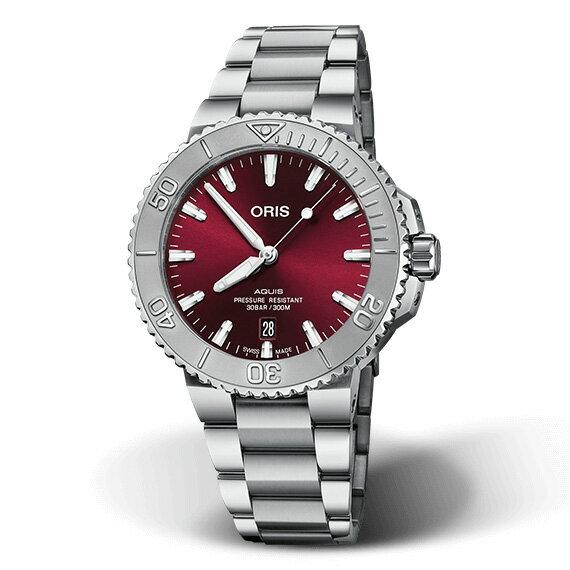 腕時計, メンズ腕時計  ORIS 41mm AQUIS DATE RELIEF RED 73377664158