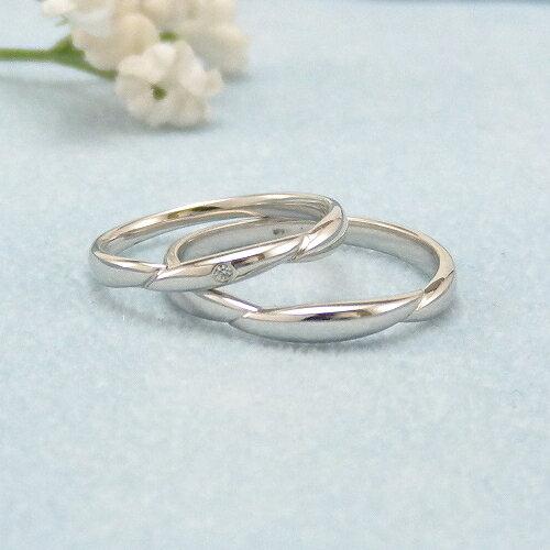 見てから決める!>>K18WG 結婚指輪 ヌーヴェル【nouvelle】 ディアレスト マリッジリング ペアリング 2本セット ◆サンプル貸出サービスあり!◆