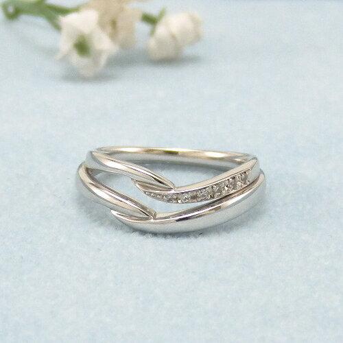 見てから決める!>>K18WG 結婚指輪 リヴァージュ【rivage】 ディアレスト マリッジリング ペアリング 2本セット ◆サンプル貸出サービスあり!◆