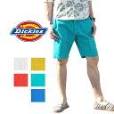 【 50%OFF 半額 SALE セール 】 Dickies ショートパンツ Dickies(ディッキーズ) コットンツイルワークパンツ (ショーツ)(142M40WD04)(カラー/ホワイト/イエロー/オレンジ/エメラルドグリーン/ブルー)