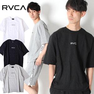 【20%OFF】RVCA ルーカ スウェット Tシャツ SMALL RVCA SWEAT TEE [Lot/AJ041-003] ビックシルエット 半袖 オーバーサイズ カットオフ サイド テープ ロゴ トップス メンズ 2019 新作 セットアップ サーフ アメカジ プレゼント お揃い リンクコーデ