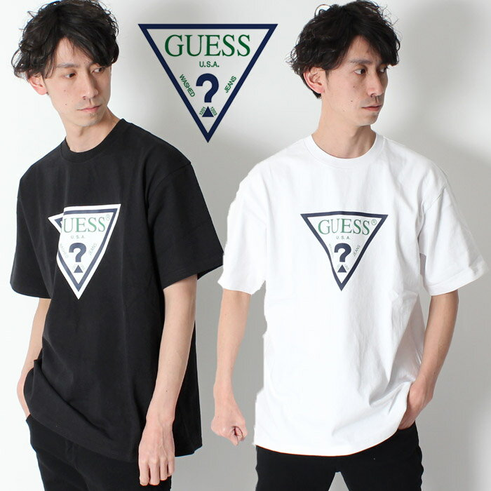 トップス, Tシャツ・カットソー 50OFF GUESS GREEN LABEL TRIANGLE LOGO TEE T LotGRFW17-001 t