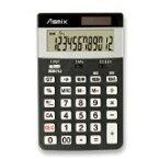 送料無料!アスカ(Asmix) 消費税電卓(M) ブラック C1225BK