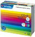 !三菱化学メディア Verbatim CD-R 700MB 1回記録用 48倍速 5mmケース 10枚パック ワイド印刷対応 ホワイトレーベル SR80SP10V1