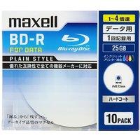 送料無料!maxellデータ用BD-R片面1層25GB4倍速対応インクジェットプリンタ対応ホワイト(ワイド印刷)10枚5mmケース入BR25PPLWPB.10S