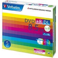 !三菱化学メディア Verbatim DVD+R DL 8.5GB 1回記録用 2.4-8倍速 5mmケース 5枚パック ワイド印刷対応 ホワイトレーベル DTR85HP5V1
