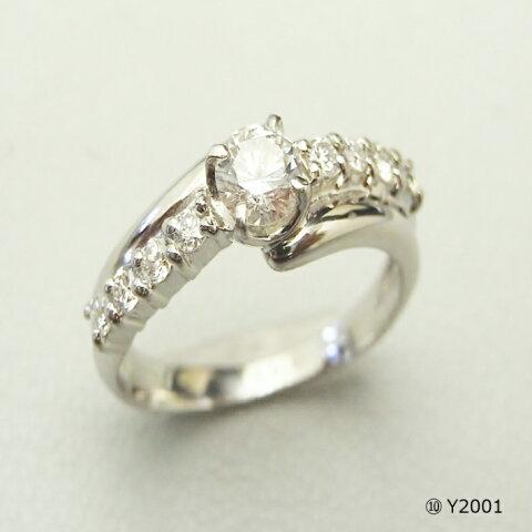 【送料&加工料込・枠下取りもOK】 立て爪ダイヤから普段使いの指輪へ Y2001(0.5ct)ジュエリー修理,ジュエリーリフォーム,アクセサリー修理,アクセサリーリフォーム,宝石修理,宝石リフォーム
