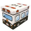 ストレージボックススツール パトカー 1コ【収納ボックス】【椅子】【おもちゃ箱】