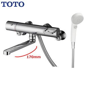 [TMGG40EW] TOTO 浴室水栓 シャワー水栓 GGシリーズ サーモスタットシャワー金具(壁付きタイプ) スパウト長さ170mm シャワーヘッド:エアインクリック 【シールテープ無料プレゼント!(希望