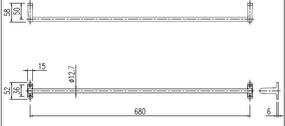LIXIL(INAX)純正アクセサリータオル掛けTB-680E680mm幅取り換え補修リフォームにリフレッシュして感動をfs3gm【RCP】【fs04gm】02P24Oct15