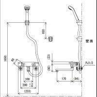 【楽天最安値に挑戦】KVKバスルーム用壁付サーモスタット式シャワー混合栓KF800Tリフォームや交換・現場などにいかがですか?【RCP】【fs04gm】