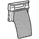 【メール便対応可】 シャープ 洗濯機用 糸くずフィルター(2...