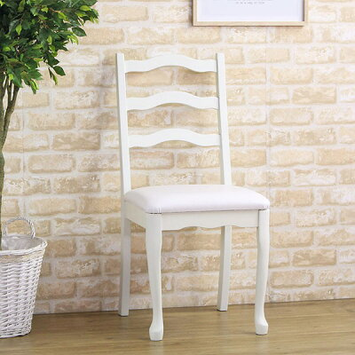 チェア 【CLEMONT】クレモント デスクチェア ダイニングチェア 椅子 いす チェアー アンティーク 家具 姫系 猫脚 合皮 天然木 ホワイト アイボリー おしゃれ かわいい 北欧 父の日