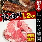 送料無料訳あり九州産牛カルビ焼肉1.2kg600g×2袋スライス厚6.0mm