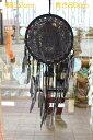ドリームキャッチャー 大 32cm ブラックボヘミアンアジアン雑貨 バリ雑貨ビーチスタイル 車カーアクセサリー BOHO アジアンインテリア バリ島直輸入 アジアン家具