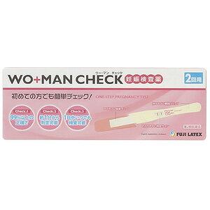 【第2類医薬品】 不二ラテックス WO+MAN(ウー・マン)チェック 2回用_