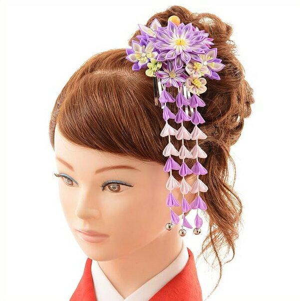 〔振袖 髪飾り 花〕〔レンタル 髪飾り〕〔コサージュ〕〔髪飾り〕〔振袖〕〔成人式〕髪飾りレンタル1bi0022 紫【往復送料無料】【RCP】fy16REN07(10P03Dec16)