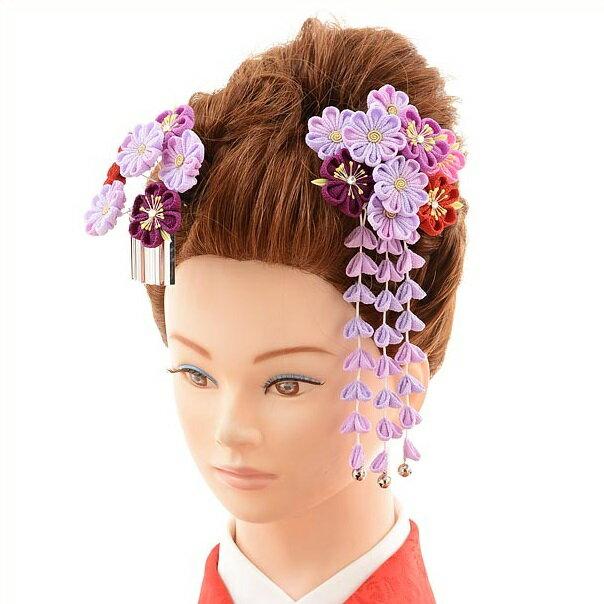 〔振袖 髪飾り 花〕〔レンタル 髪飾り〕〔コサージュ〕〔髪飾り〕〔振袖〕〔成人式〕髪飾りレンタル1bi0037 紫【往復送料無料】【RCP】fy16REN07(10P03Dec16)