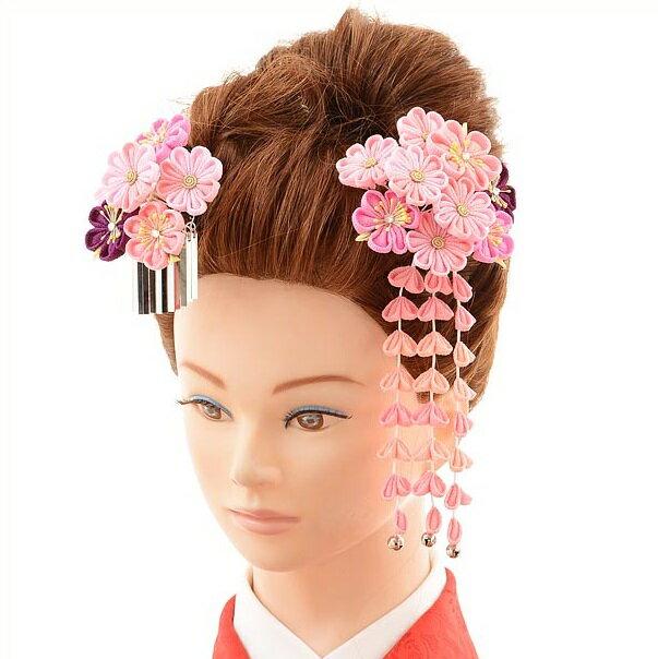 〔振袖 髪飾り 花〕〔レンタル 髪飾り〕〔コサージュ〕〔髪飾り〕〔振袖〕〔成人式〕髪飾りレンタル1bi0041 ピンク【往復送料無料】【RCP】fy16REN07(10P03Dec16)