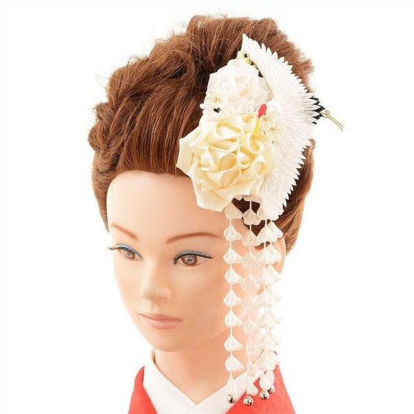 〔振袖 髪飾り 花〕〔レンタル 髪飾り〕〔コサージュ〕〔髪飾り〕〔振袖〕〔成人式〕髪飾りレンタル1bi0044 白【往復送料無料】【RCP】fy16REN07(10P03Dec16)