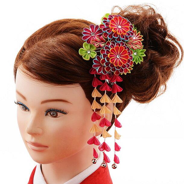 〔振袖 髪飾り 花〕〔レンタル 髪飾り〕〔コサージュ〕〔髪飾り〕〔振袖〕〔成人式〕髪飾りレンタル 0076 赤【往復送料無料】【RCP】fy16REN07(10P03Dec16)