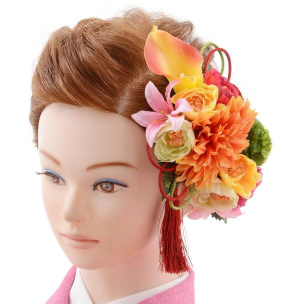 【着物 髪飾り】着物 髪飾り 花 和装用 〔振袖 髪飾り 花〕振袖レンタルなどにおすすめの髪飾り1cj0105/結婚式用髪飾り【入学式 卒業式 結婚式】(10P03Dec16)